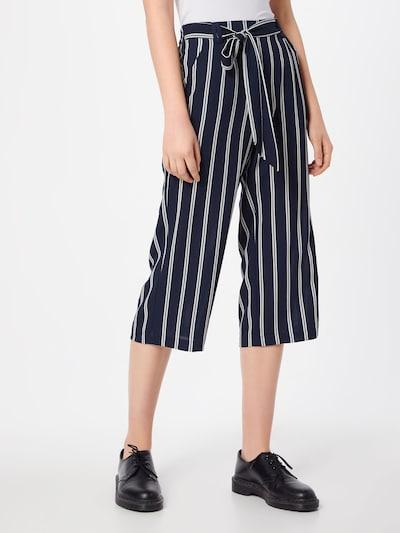ONLY Pantalon à pince 'Winner' en bleu nuit / blanc, Vue avec modèle