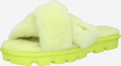 Saboți 'FUZZETTE' UGG pe galben neon: Privire frontală