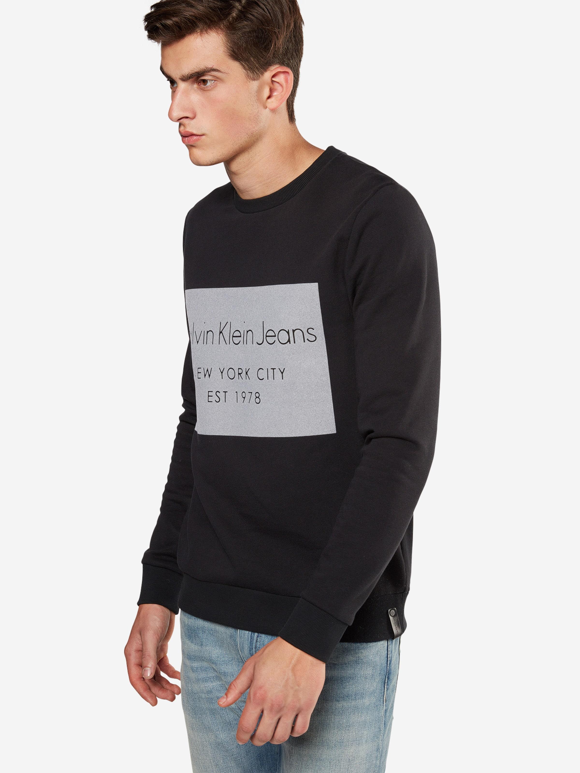 Auslass Eastbay Calvin Klein Jeans Sweatshirt mit Flockdruck Online-Bilder Verkauf Zg0ie9TowN