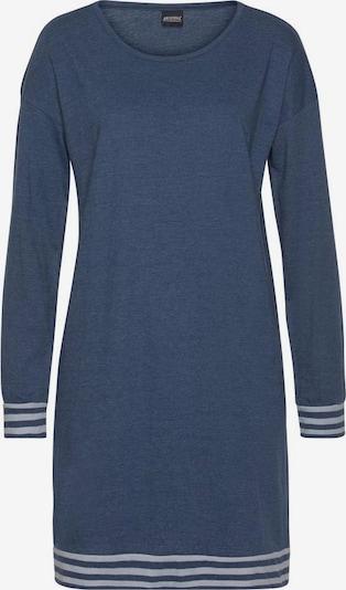 ARIZONA Nachthemd in taubenblau / weiß, Produktansicht