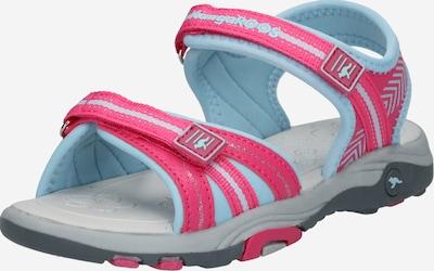 KangaROOS Sandale 'K-Lane' in hellblau / pink: Frontalansicht
