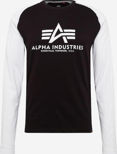 ALPHA INDUSTRIES Shirt in schwarz / weiß, Produktansicht
