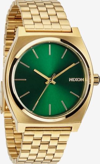 Nixon Armbanduhr 'Time Teller' in goldgelb / grün: Frontalansicht