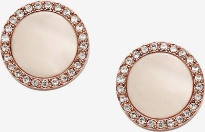 FOSSIL Ohrringe in nude / rosegold / weiß, Produktansicht