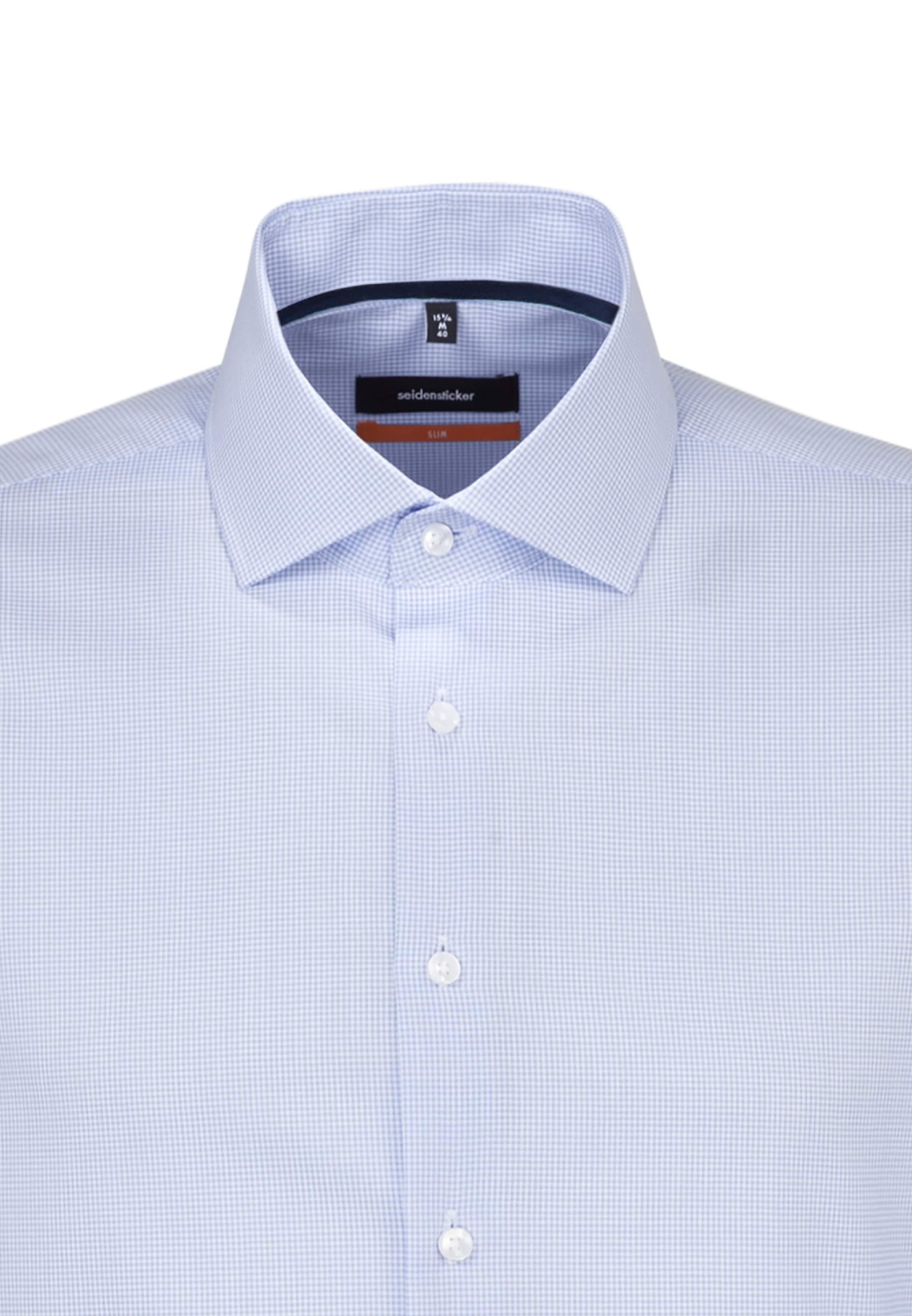 Slim Blau Hemd In Seidensticker Business ' E9W2DHI
