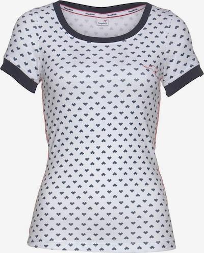 KangaROOS T-Shirt in dunkelblau / rot / weiß, Produktansicht