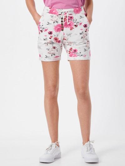 Hailys Shorts 'Sabina' in mischfarben / weiß, Modelansicht