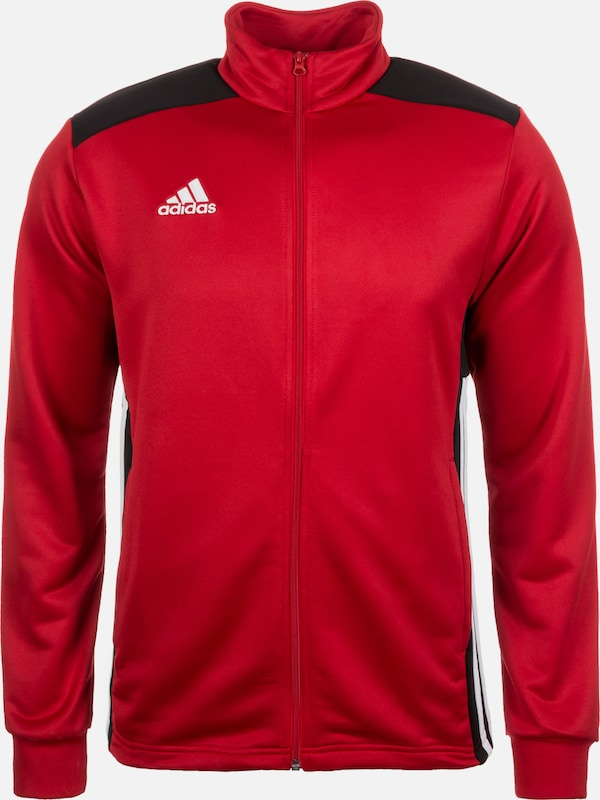 ADIDAS PERFORMANCE Trainingsjacke 'Regista 18' in rot / schwarz / weiß: Frontalansicht