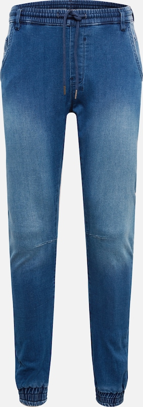 Urban Classics Jeans 'Knitted Denim Jogpants' in blau, Produktansicht