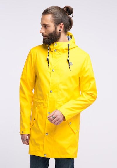 Schmuddelwedda Tussenjas in de kleur Geel, Modelweergave