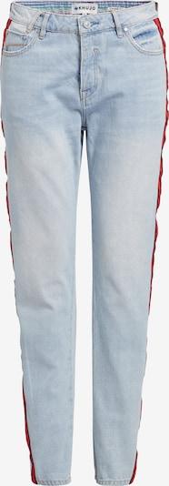 khujo Hose 'Locklyn' in blau / rot / blutrot, Produktansicht