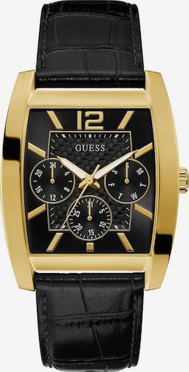 GUESS Uhr 'SOLITARE, GW0064G1' in gold / schwarz, Produktansicht