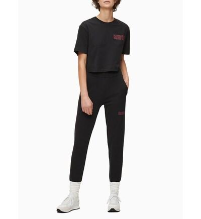 Calvin Klein Sweathose in schwarz, Modelansicht
