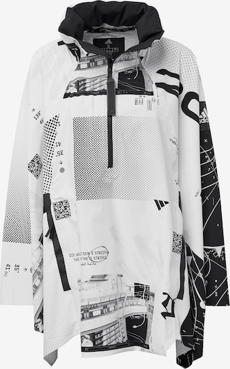 ADIDAS PERFORMANCE Regenjacke 'MYSHELTER' in grau / schwarz / weiß, Produktansicht