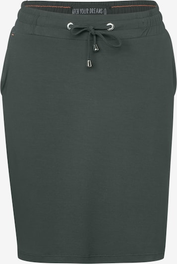 CECIL Kurzer Jerseyrock in grün / khaki: Frontalansicht