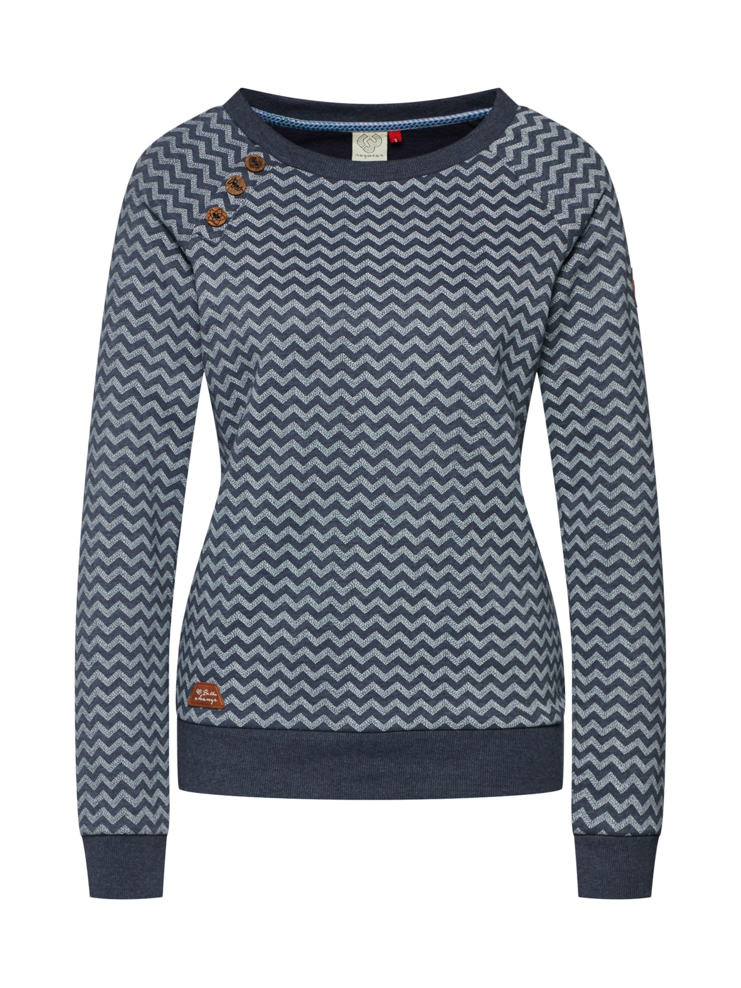 Zag' Ragwear Sweatshirt 'daria In Zig Navy tQrCdxhs