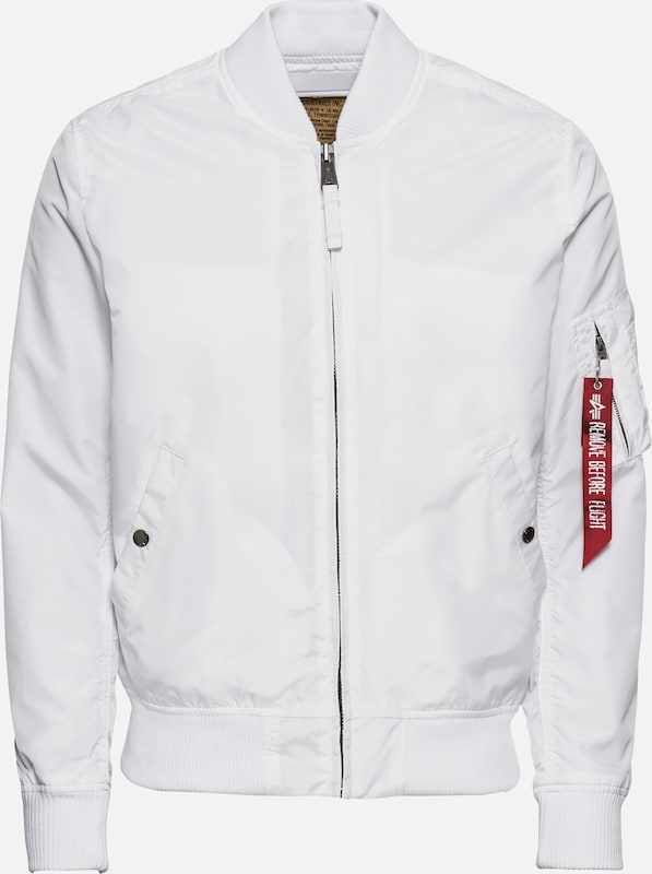 ALPHA INDUSTRIES Tussenjas 'MA-1 TT' in de kleur Wit, Productweergave