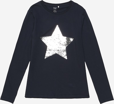 NAME IT Shirt 'Star' in de kleur Donkerblauw / Zilver, Productweergave