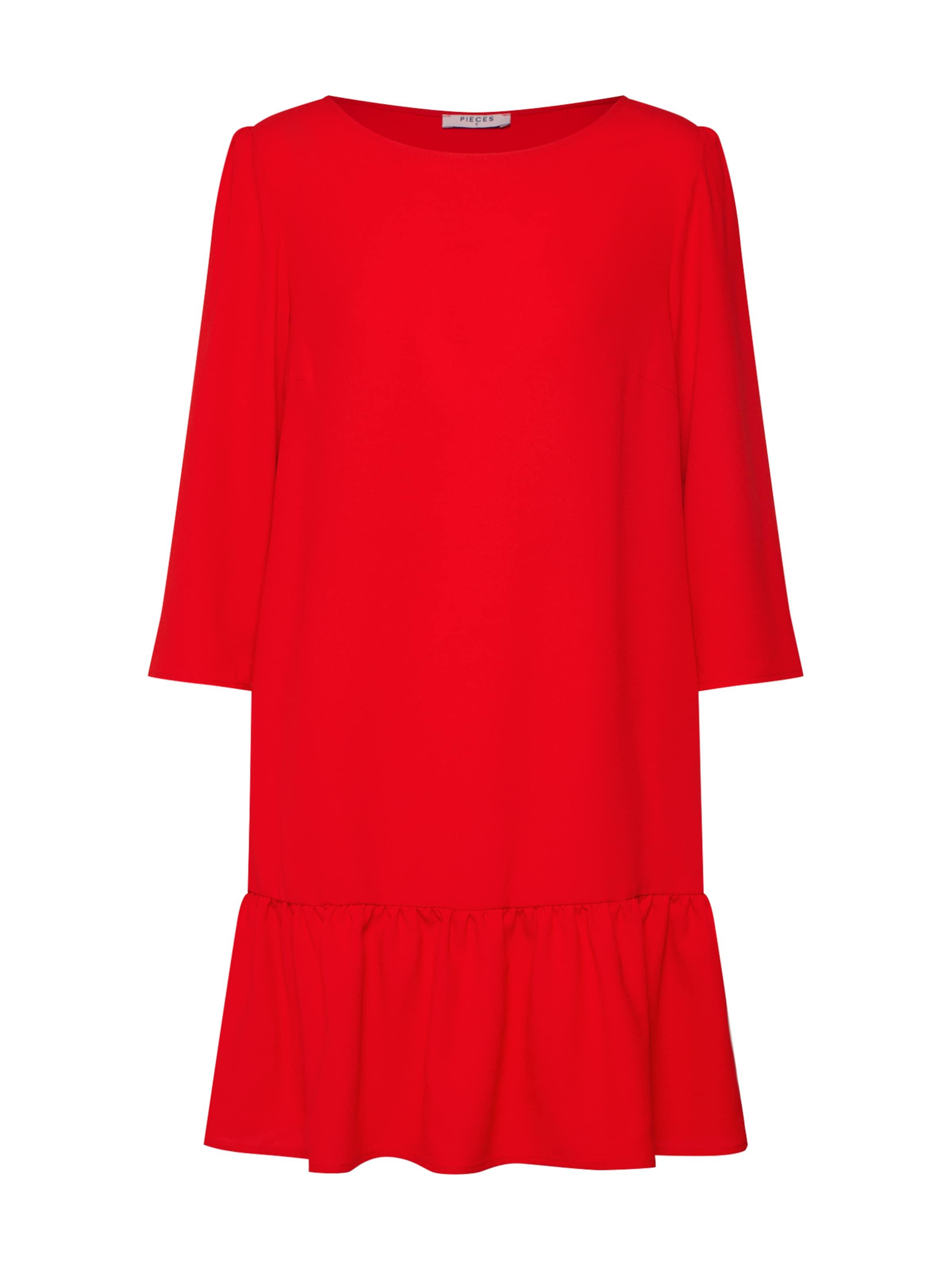 Pieces 'britney' Rot Kleid Pieces In ZiOTwuPXk