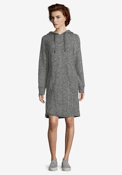 Betty & Co Sweatkleid mit Kapuze in grau, Modelansicht