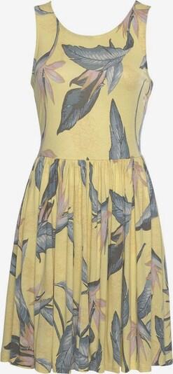 BEACH TIME Лятна рокла в лимон / опушено синьо / пастелно оранжево / пастелно розово, Преглед на продукта