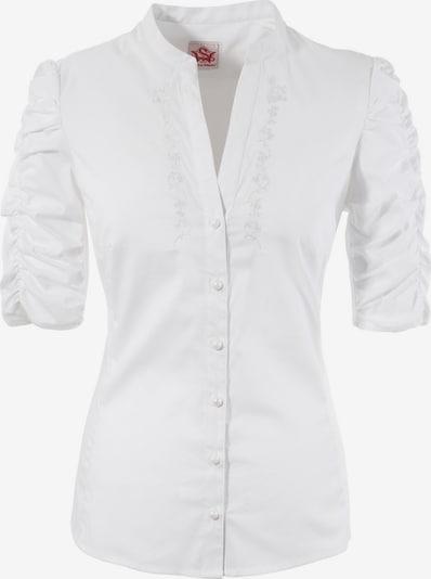 SPIETH & WENSKY Trachtenbluse Damen mit Stickerei in weiß, Produktansicht