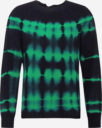 DIESEL Pullover 'K-Toni' in grün / schwarz, Produktansicht