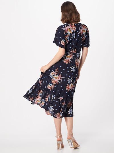 Y.A.S Kleid 'Solira' in nachtblau / mischfarben: Rückansicht