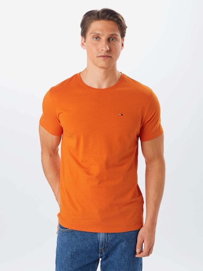 Tommy Jeans T-Shirt 'TJM Essential Solid Tee' en orange: Vue de face