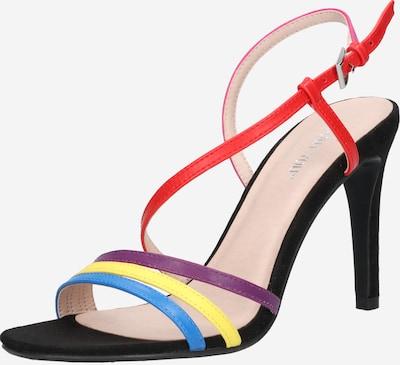 ABOUT YOU Páskové sandály 'Valerie' - modrá / žlutá / fialová / mix barev / pink / červená, Produkt