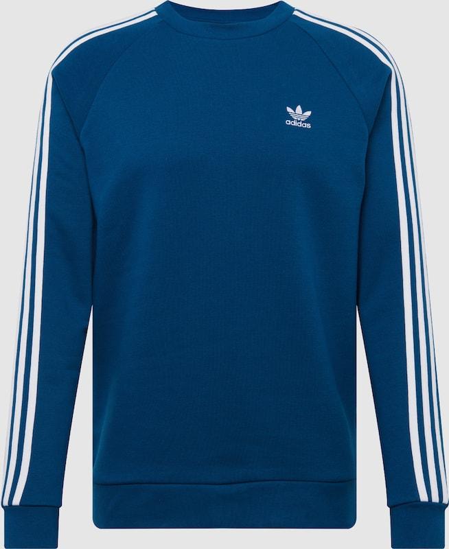 ADIDAS ORIGINALS Sweater '3-Stripes' in blau   weiß  Mode neue Kleidung