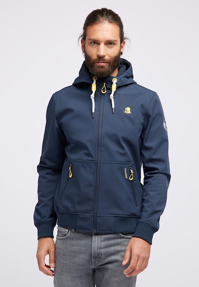 Schmuddelwedda Functionele jas in de kleur Donkerblauw: Vooraanzicht
