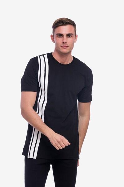 Tom Barron Rundhalsshirt in schwarz / weiß: Frontalansicht