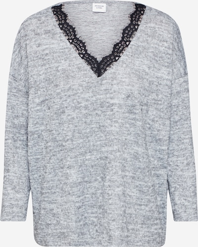 JACQUELINE de YONG Damen - Pullover & Strickjacken 'JDYCHOICE TREATS L/S LACE V-NECK TOP JRS' in grau, Produktansicht