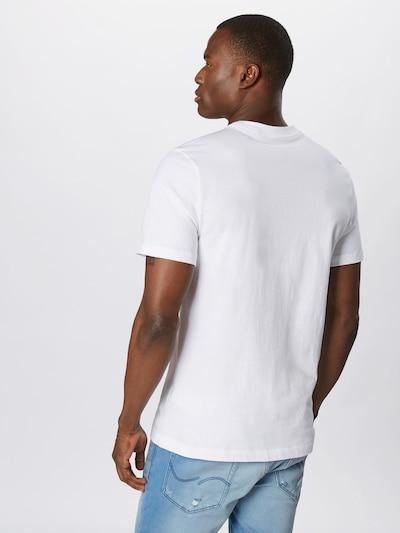 Nike Sportswear T-Shirt in schwarz / weiß: Rückansicht