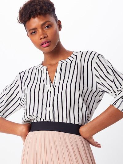 EDC BY ESPRIT Bluse in schwarz / weiß, Modelansicht