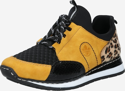 méz / fekete RIEKER Rövid szárú edzőcipők, Termék nézet