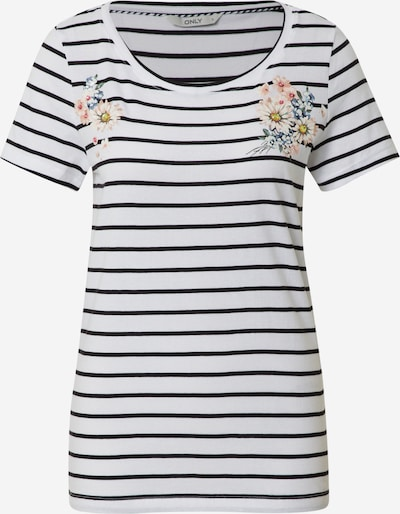 ONLY T-shirt 'KITA' en noir / blanc, Vue avec produit