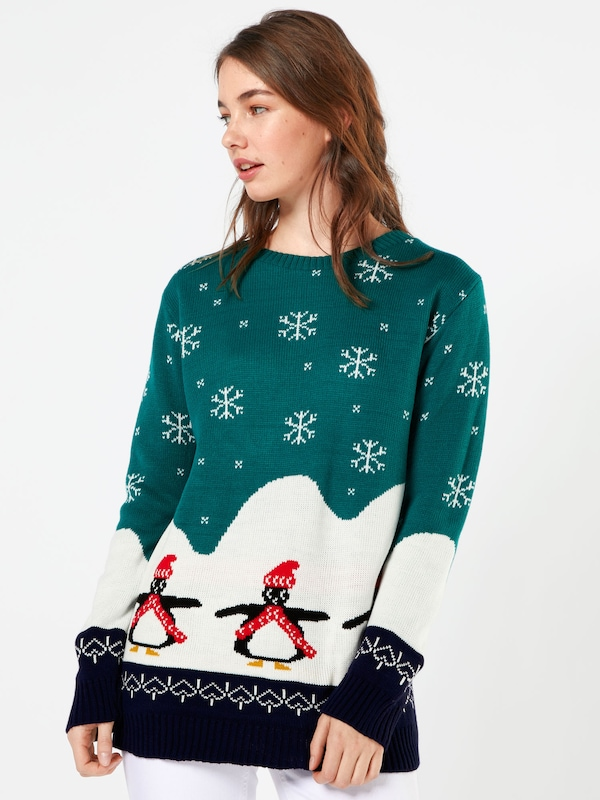 Boohoo Pullover 'Willow Penguin Christmas'