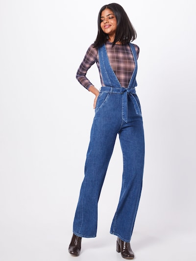 Pepe Jeans Tuinbroek jeans 'LARSA' in de kleur Blauw denim, Modelweergave