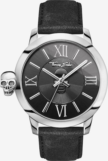 Thomas Sabo Quarzuhr in schwarz / silber, Produktansicht