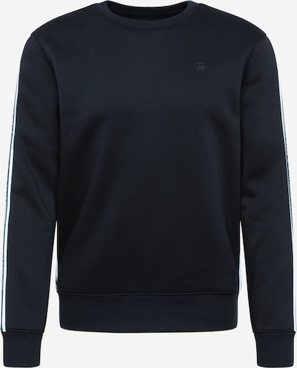 G-Star RAW Sweatshirt 'Alchesai or core' in de kleur Zwart / Wit, Productweergave