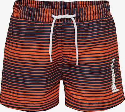 Hummel Badeshorts 'Chill' in marine / orange / weiß, Produktansicht