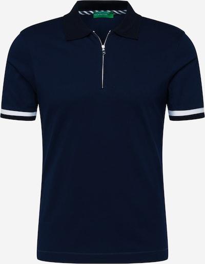 UNITED COLORS OF BENETTON T-Shirt en bleu foncé / blanc, Vue avec produit
