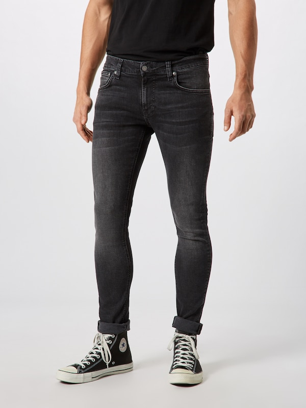 Nudie Jeans Co Jeans 'Tight Terry' in black denim: Frontalansicht