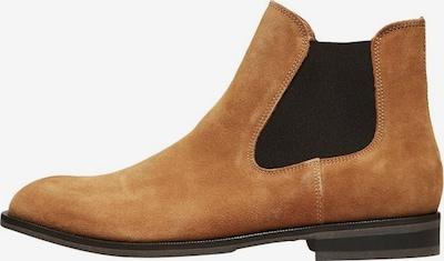 SELECTED HOMME Chelsea Boots en cognac / noir, Vue avec produit