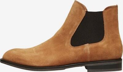 SELECTED HOMME Chelsea Stiefel in cognac / schwarz, Produktansicht
