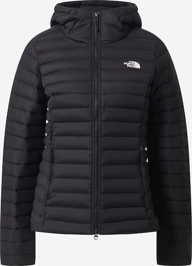 THE NORTH FACE Sportjacke 'Stretch Down' in schwarz / weiß: Frontalansicht