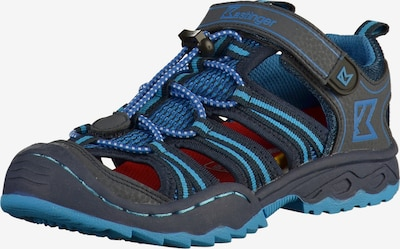 Kastinger Sandales en bleu / gris foncé, Vue avec produit