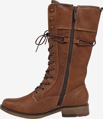Suvarstomieji batai iš MUSTANG , spalva - kaštoninė spalva: Vaizdas iš šono